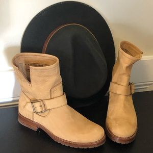 NWT FRYE Sand Color Ankle Boot